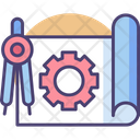 Engineering Blueprint Project Plan Icon