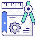 Engineering Blueprint Blueprint Design Icon