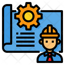 Blueprint Engineering Architecture Icon