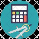Calculator Compass Tools Icon