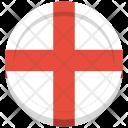 England Flag Circle Icon
