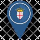 England Location Pointer Icon