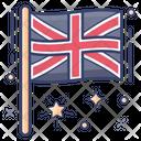 England Flag Banner Emblem Icon