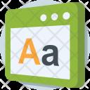 English Web Layout Icon