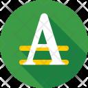 English Alphabet A Icon