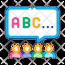 Preschool Education Alphabet Icon