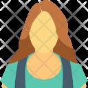 English Woman Female Icon