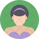 English Woman Female Girl Icon