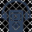 Enjoying Music Entertainment Headphones Icon