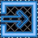 Enter Login Squre Icon