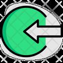 Enter Arrow Circle Icon