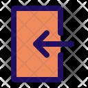 Enter Door Sign Icon