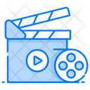 Entertainment Action Clapperboard Icon