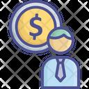 Business Cashier Businessman Icon