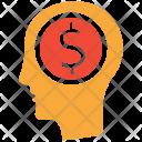 Entrepreneurship Earning Brain Icon