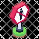 Entry Warning No Entry No Entry Board Icon