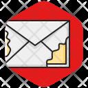 Envelope Corrupted Damaged Icon