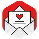 Envelope Heart Love Icon