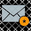 Envelope Favorite Star Icon