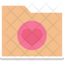 Envelope With Hearts Romantic Theme Valentine Day Icon