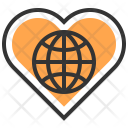 Environment Heart Recycle Icon