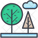 Trees Cloud Sky Icon