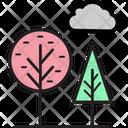 Trees Cloud Sky Icon
