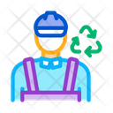 Environmental Worker Recycle Icon