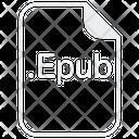 Epub File Document Icon