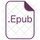 Epub File Document Icon