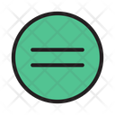 Equal Round Sign Icon