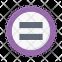 Equal Mathematics Symbol Icon
