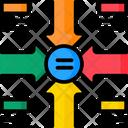 Equal Merge Chart Icon