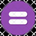 Equal Sign Equal Symbol Mathematics Sign Icon