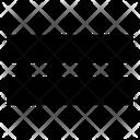 Equal Symbol Mini Equal To Two Horizontel Line Icon