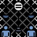Equality Fair Neutral Icon