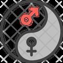 Equality Balance Yin Yang Icon