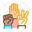 Human Hands Race Icon