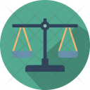 Equality in business balance scale Icon