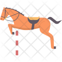 Equestrian Show Jumping Icon