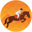 Equestrian Jumping Icon