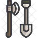 Equipment Shovel Axe Icon