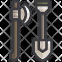 Equipment Shovel Axe Icon