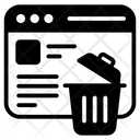 Delete Data Erase Data Website Data Icon