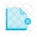 Erase Document Icon