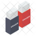 Erasers Rubbers Stationery Icon