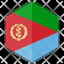 Eritrea Flag Hexagon Icon
