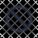 Error Block Prohibition Icon