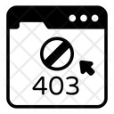 Web Error Error 403 Website Error Icon