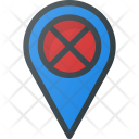 Error Pin Geolocation Icon